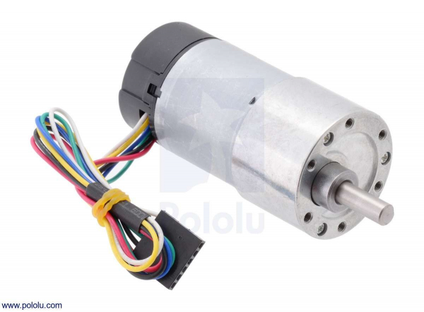 70:1 Metal Gearmotor 37Dx70L mm cu Encoder 64 CPR