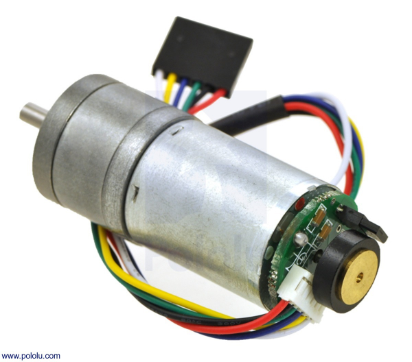 75:1 Metal Gearmotor 25Dx54L mm HP 12V cu Encoder 48 CPR