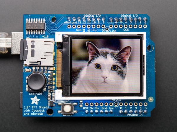 Shield LCD color 1.8 TFT cu microSD si joystick