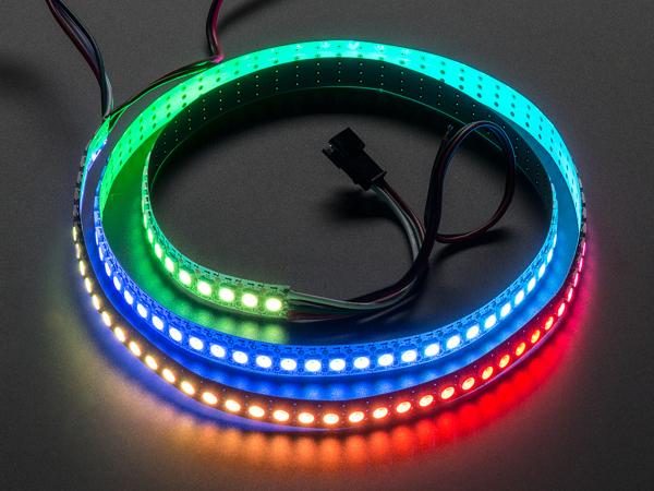 Banda 144 LED-uri RGB NeoPixel - 1m Alb