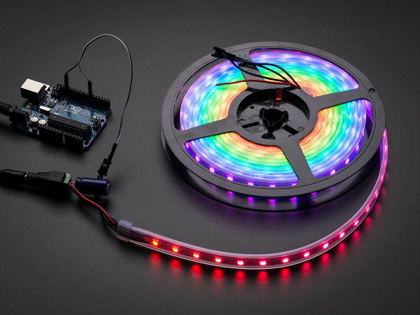 NeoPixel Digital RGB LED Strip - Negru 60 LED - Banda leduri - 1m