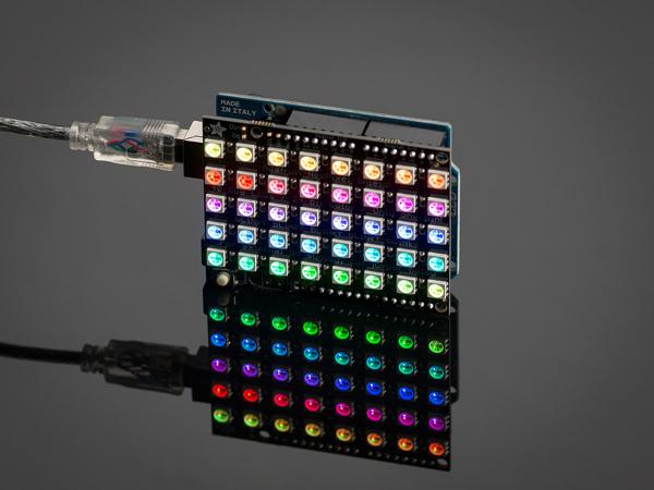 Matrice 4x8 LED-uri RGB - NeoPixel FeatherWing