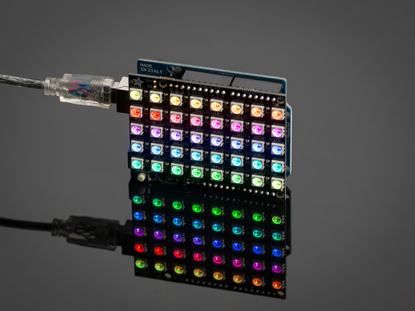 NeoPixel Shield - 40 RGB LED Matrice leduri