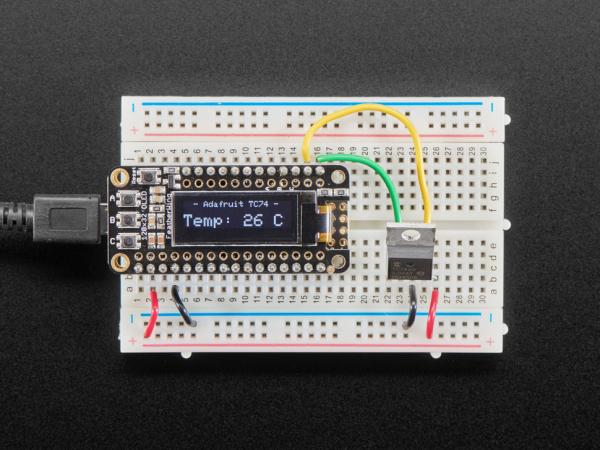 Adafruit TC74A0 senzor temperatura I2C