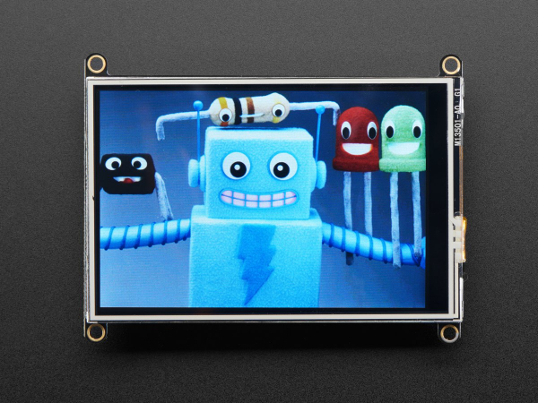 Adafruit TFT FeatherWing - 3.5 480x320 Touchscreen pentru placile Feather