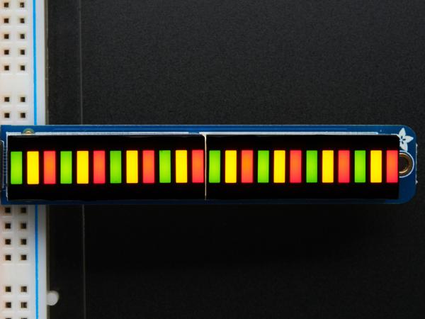 Afisaj Bargraph 24 LED-uri - Bicolor I2C