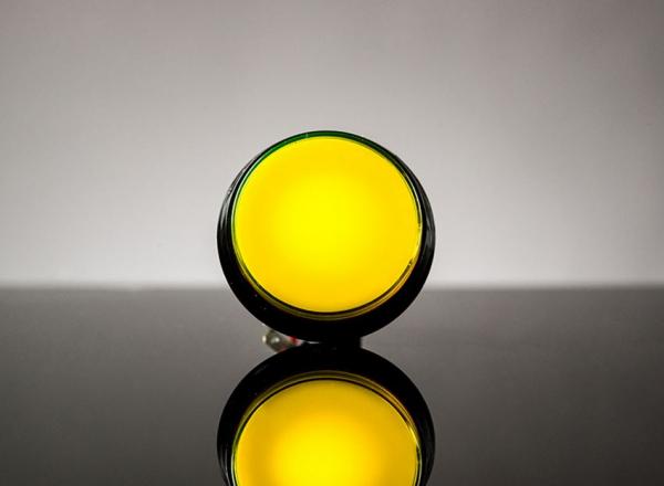 Buton Arcade cu LED galben - 60mm
