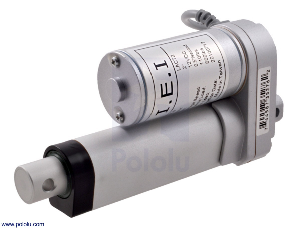 Actuator liniar LACT2-12V-20 fara feedback 5.08 cm Stroke, 12V, 1.27 cm s
