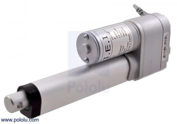 Actuator liniar LACT8P-12V-20 cu feedback 20.32 cm Stroke, 12V, 1.27 cm s