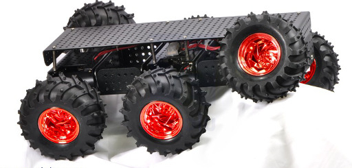 Wild Thumper 6WD All-Terrain Chassis, Black, 75:1