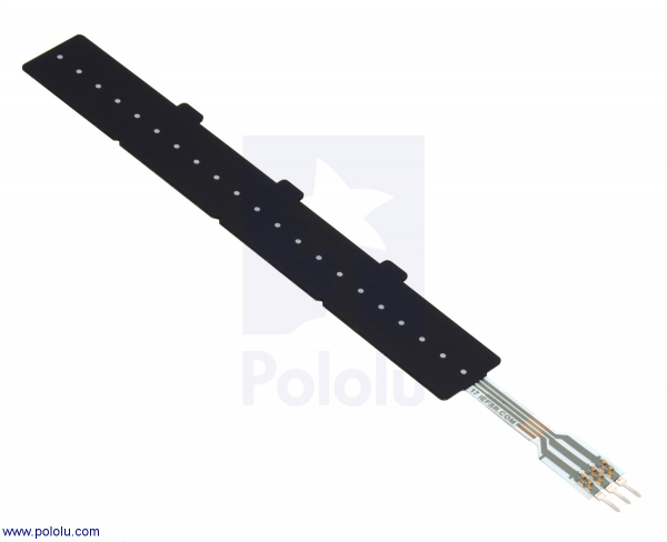 Potentiometru liniar sensibil la forta: 10.41cm x 1.44cm Lungime variabila