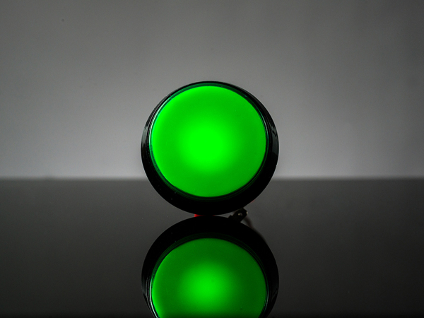 Buton Arcade cu LED verde - 60mm