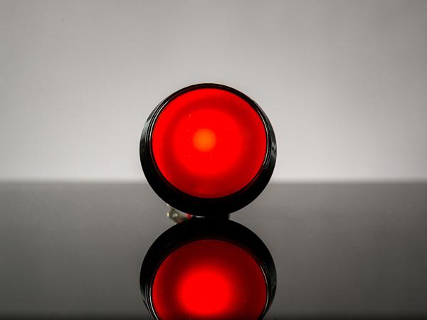 Buton Arcade cu LED rosu - 60mm
