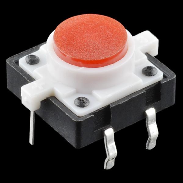 Buton tactil cu LED - Rosu