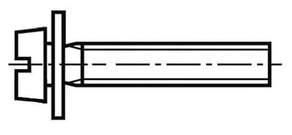Set surub 4 mm (M4) X 12 mm (10 bucati) cu saiba