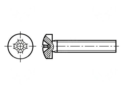 Set surub otel 2 mm (M2) X 10 mm (10 bucati)