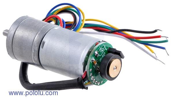 Motor metalic cu cutie de viteze 25Dx52L mm 75:1 HP cu encoder