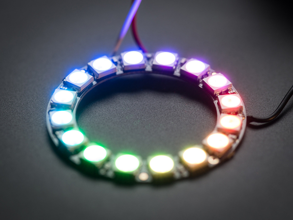 NeoPixel Ring - 16 x WS2812 5050 RGB LED Adresabile