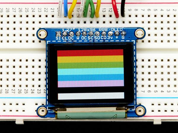 OLED Breakout Board - 16-bit Color 1.27 w microSD