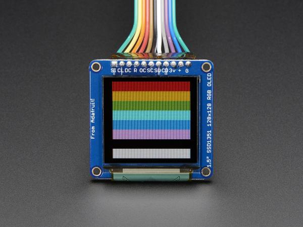 OLED Breakout Board - 16-bit Color 1.5 w microSD