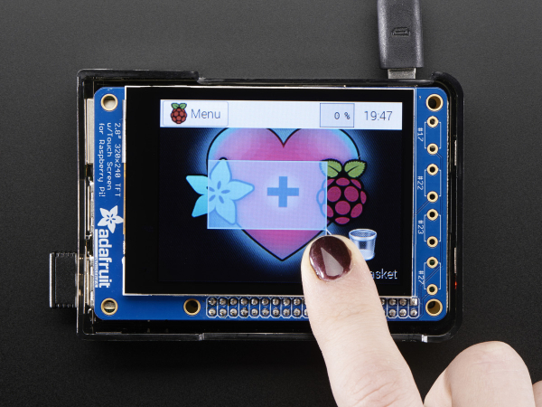 PiTFT Plus Mini Kit 320x240 2.8 TFT + Touchscreen capacitiv