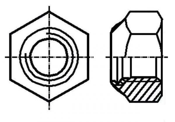 Set piulita M3 autoblocanta (10 bucati)