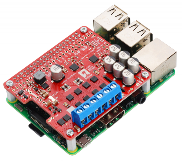 Pololu Dual G2 High-Power Motor Driver 18v18 pentru Raspberry Pi (Partial Kit)