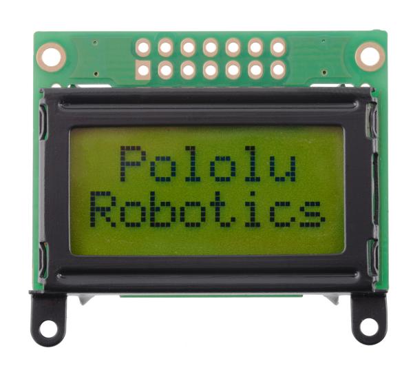 Pololu LCD 8 2 caractere, rama neagra, interfata paralela