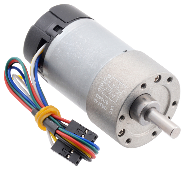 Pololu motor electric metalic, 10:1, 37Dx65L, 12V, pinion elicoidal