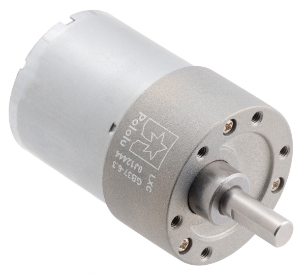 Pololu motor electric metalic, 6.3:1, 37Dx50L, 12V, pinion elicoidal