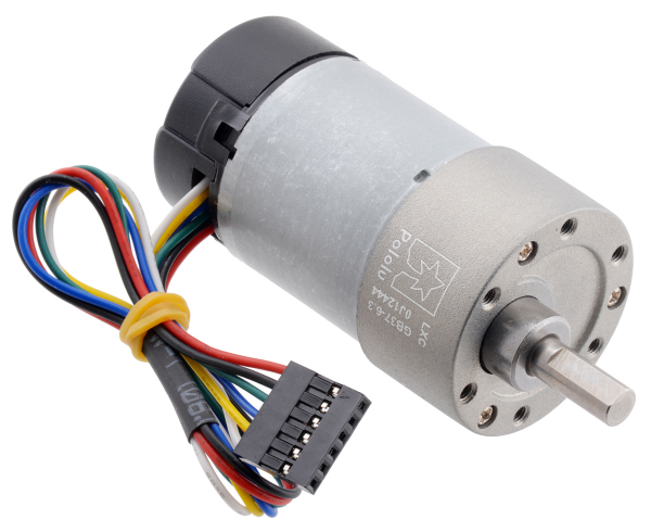 Pololu motor electric metalic, 6.3:1, 37Dx65L, 12V, pinion elicoidal cu encoder