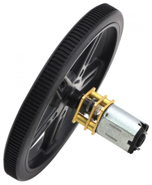 Pololu motor electric micro metal 50:1 HPCB 6V cu ax extins
