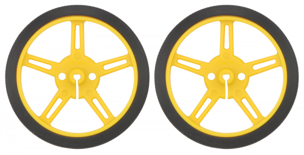 Roti Pololu Wheel 60 8mm Perechea - Galbene