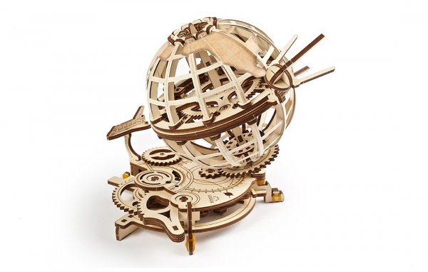 Puzzle mecanic 3D lemn Ugears Glob pamantesc
