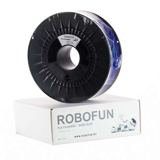 Filament Premium Robofun PLA 1KG 1.75 mm - Albastru inchis