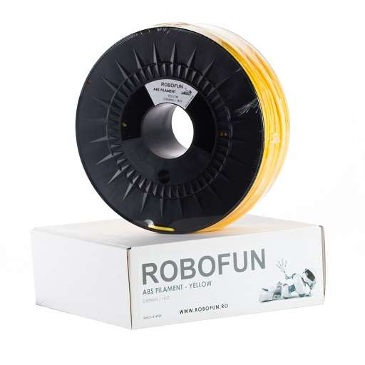 Filament Premium Robofun ABS 1KG 3 mm - Galben