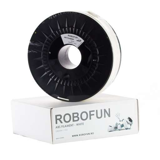 Filament Premium Robofun ABS 1KG 3 mm - Alb