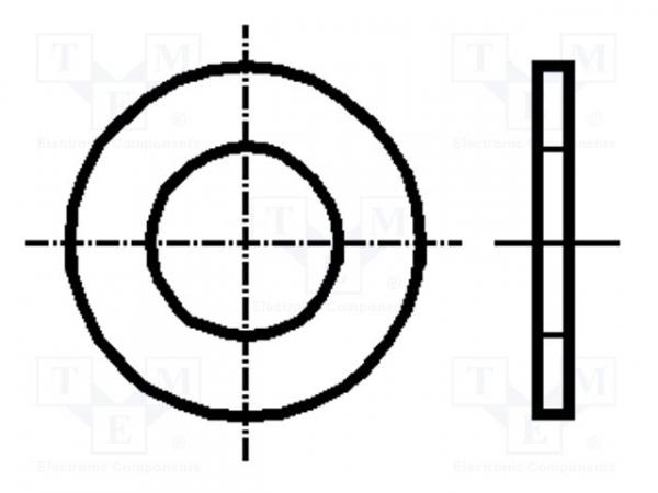 Saiba plata, rotunda, de 5mm, Kraftberg K2.2 D125-A2