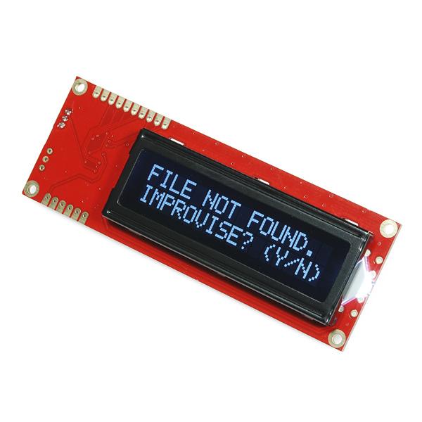 LCD 16x2 Serial - Alb pe negru 5V
