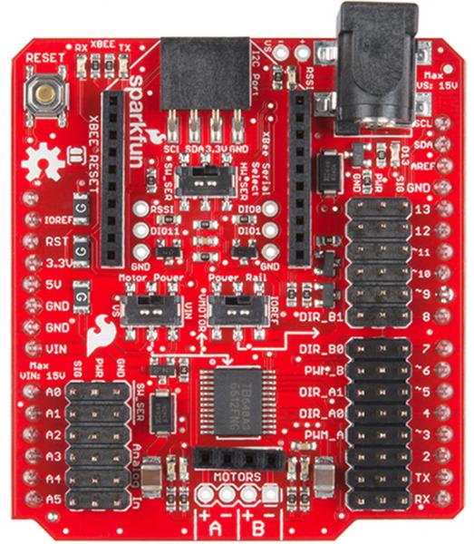 Shield wireless SparkFun pentru driver de motor