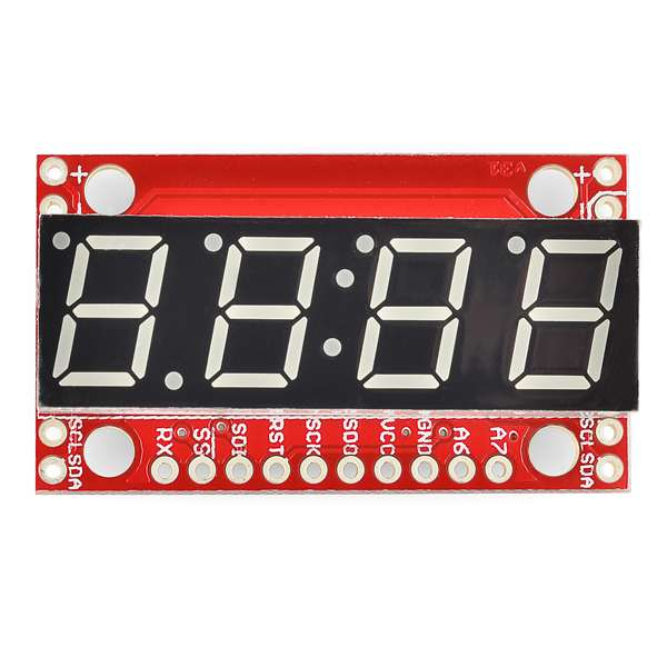 Display serial 7 segmente Albastru
