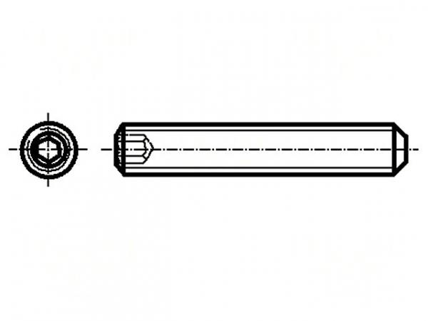 Set surub otel M4 x 5 mm fara cap, set 10 buc