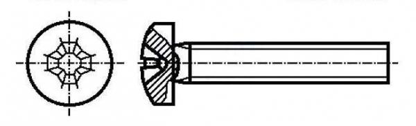 Set surub 4 mm (M4) X 16 mm (10 bucati) cap T