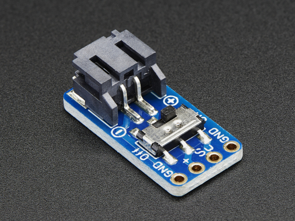 JST-PH 2-Pin SMT Breakout Board cu Switch