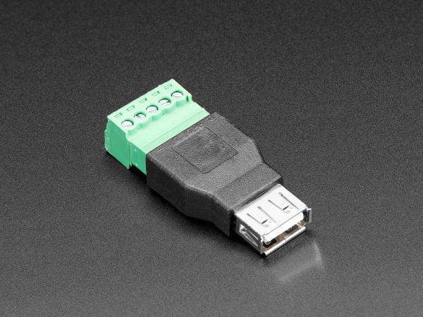 Conector USB-A Mama cu 5-pin Terminal Block
