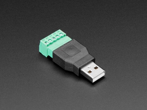 Conector USB-A Tata Plug cu 5-pin Terminal Block